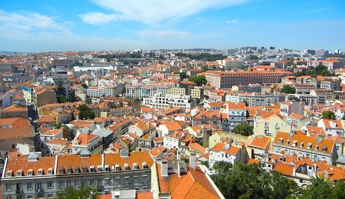 lisbon portugal red rooftops