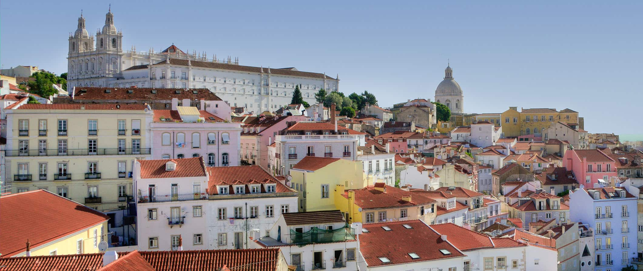 pretty red rooftops in Lisbon