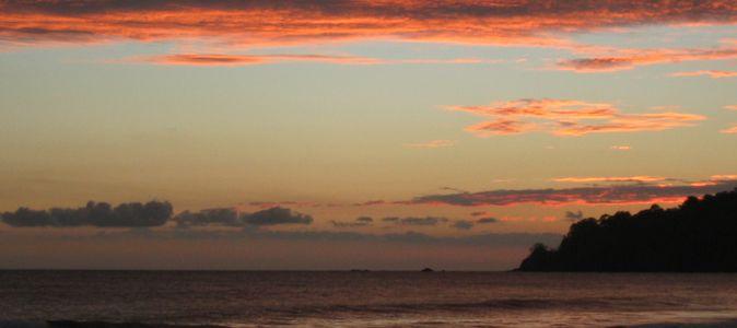 a costa rica sunset