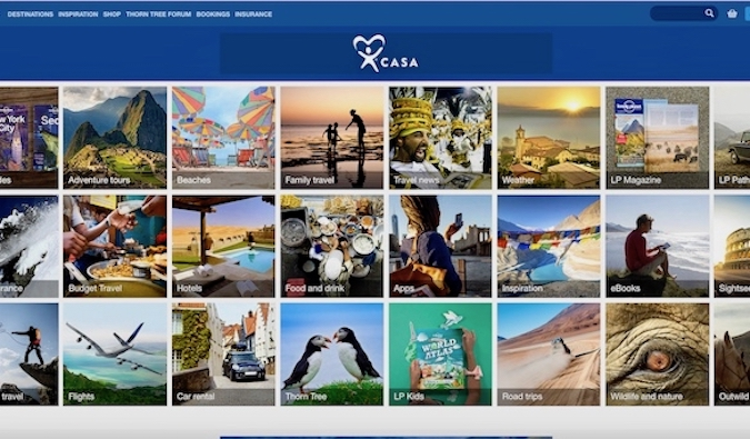 Lonely Planet website screenshot