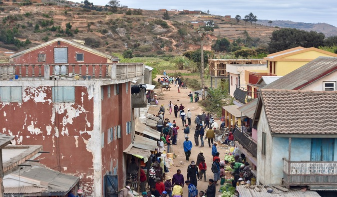 Poverty and outdated buildings in Madagascar