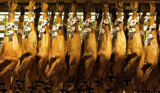 lots of ham in madrid