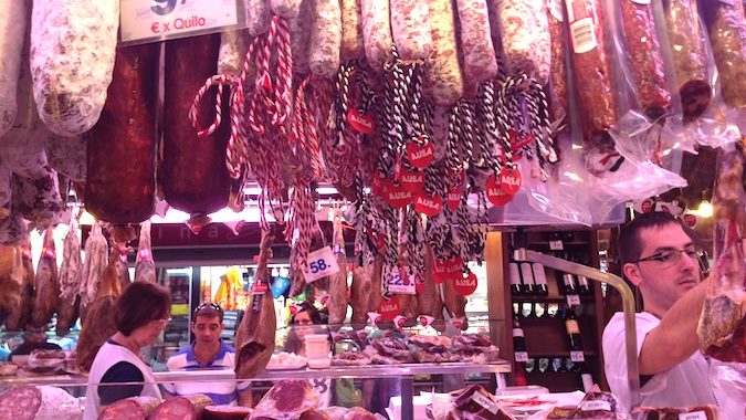 lots of ham in madrid