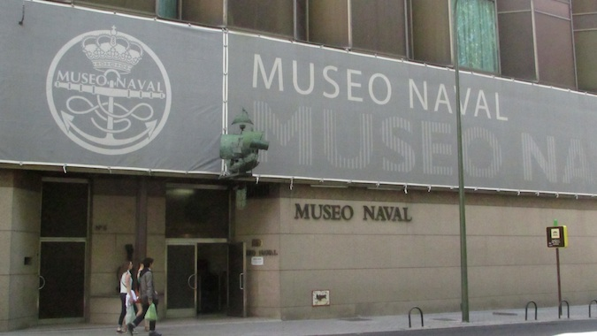 the outside of the naval museum madrid