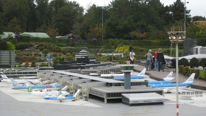 schipol airport model at Madurodam