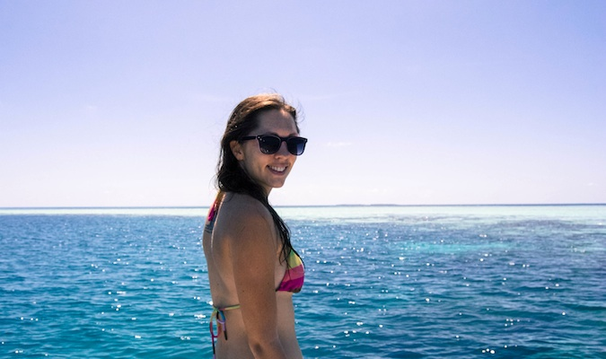 Kristin Addis, from the Be My Travel Muse blog, in The Maldives