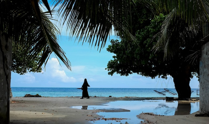 A local Muslim woman in the Maldives