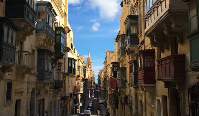 one of the most charming streets in malta