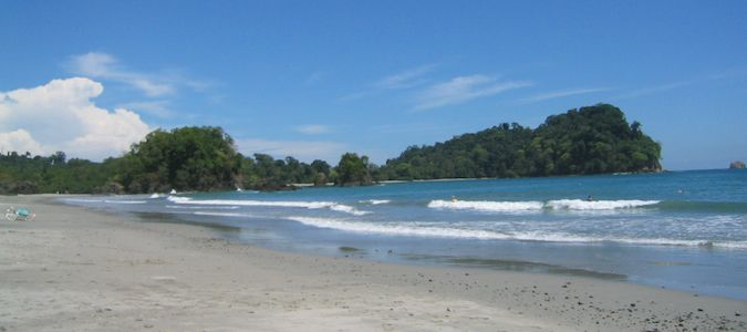 the beach in manuel antonio.