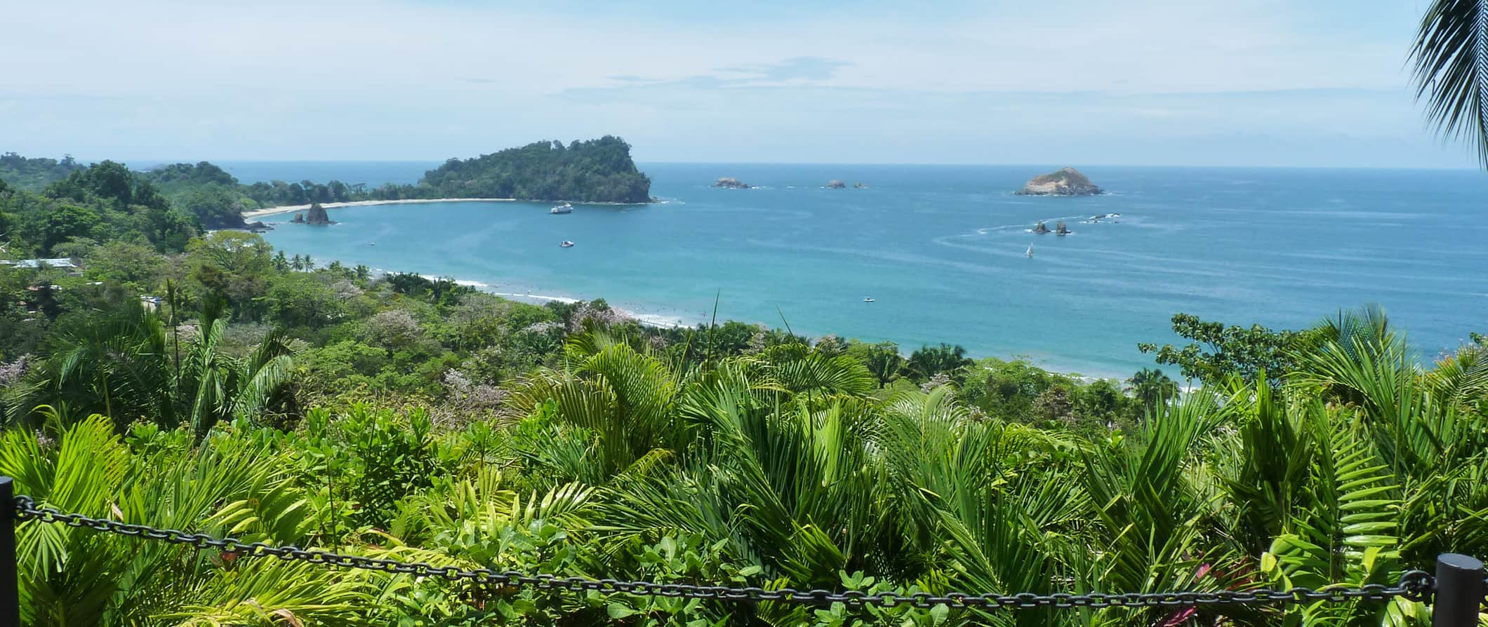a beach scene in manuel antonio, costa rica