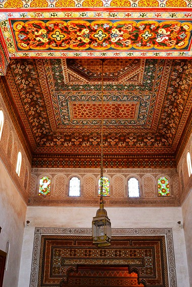 Inside Bahia Palace in Marrakesh, Morocco