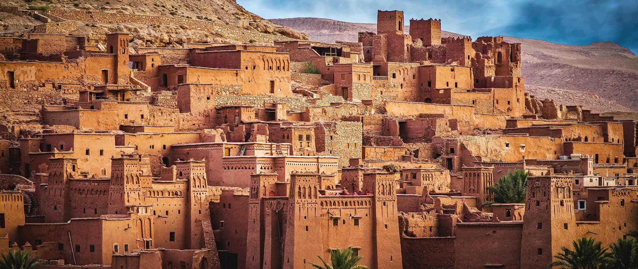 traditional sandstone buildings in Morocco