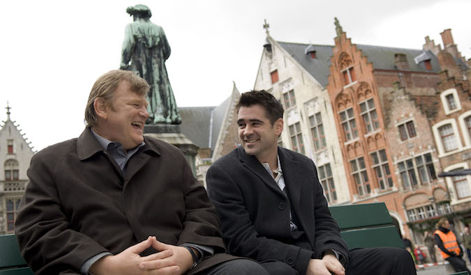 two men talking in movie in bruges