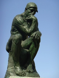 rodin's the thinker - about life