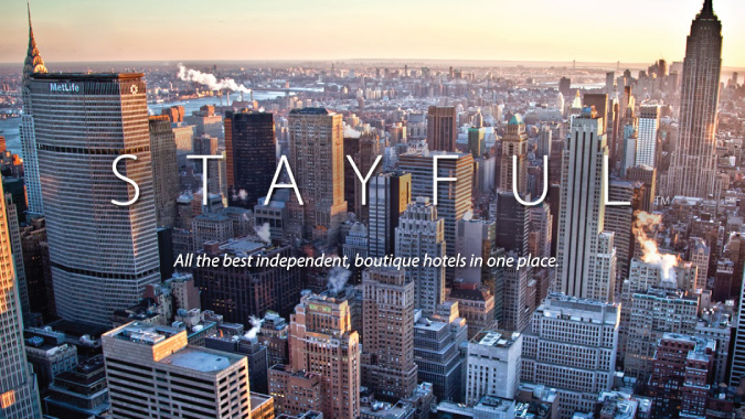 Stayful welcome screen for the travel app