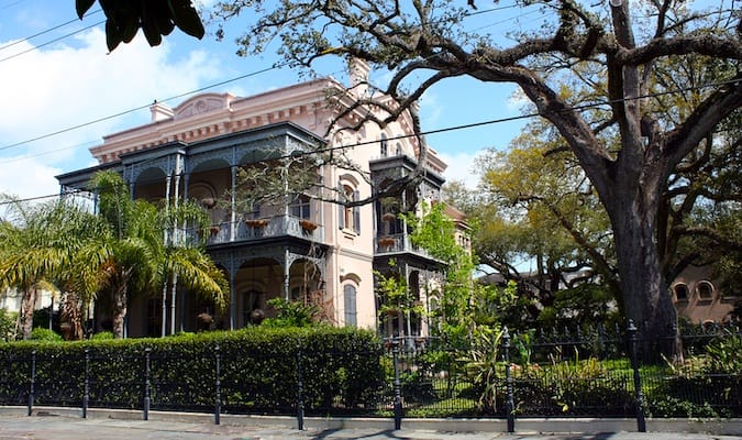 House in the Garden District of NOLA