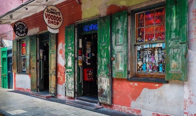 Outside of Rev Zombie's VooDoo Shop in NOLA