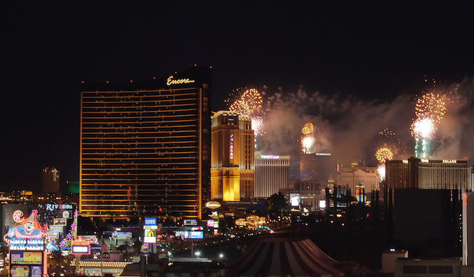 Las Vegas during New Year's