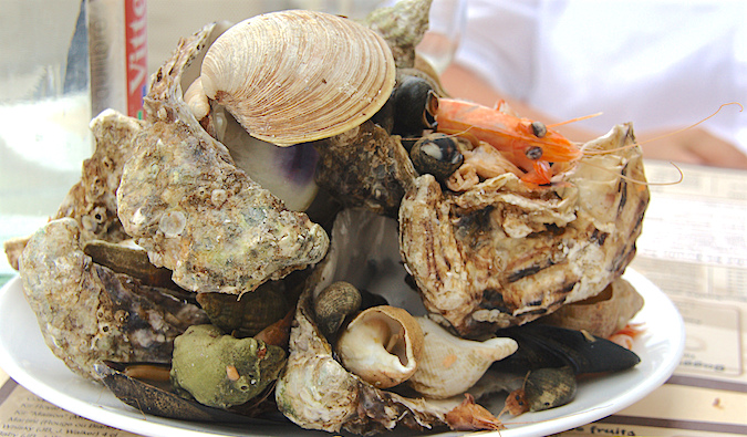 Sea snails and other seafood in France