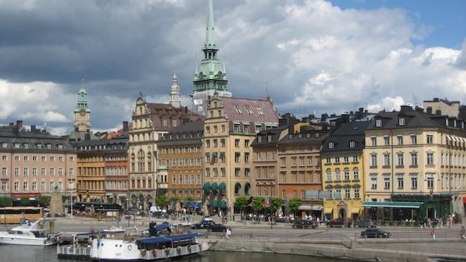 Colorful buildings in Gamla Stan, Stockholm, Sweden