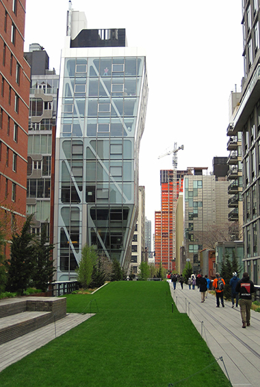 People walking on the High Line in New York City, USA
