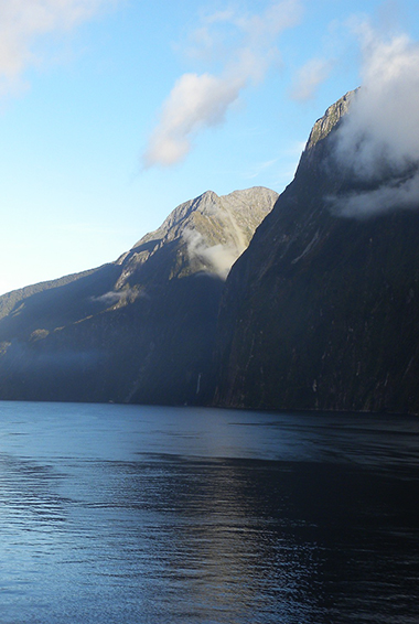 New Zealand's Fiordland from the water