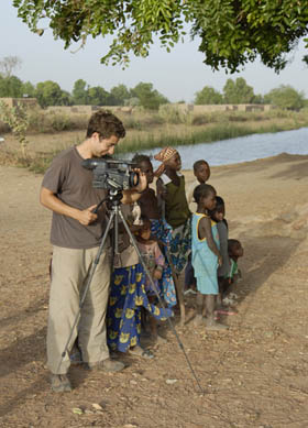 Brook Silva Braga filming the One Day in Africa Travel Documentary
