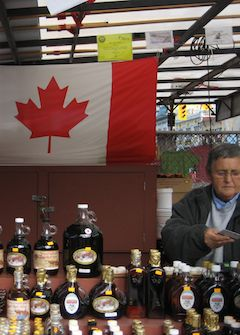 vendor selling maple syrup in ottawa