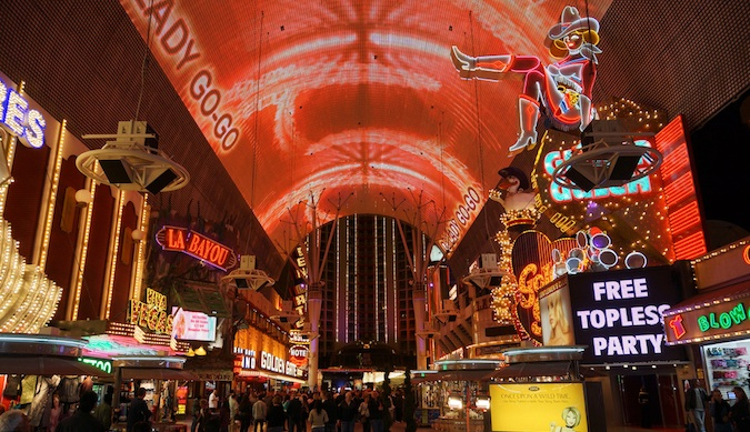 freemont street in downtown las vegas