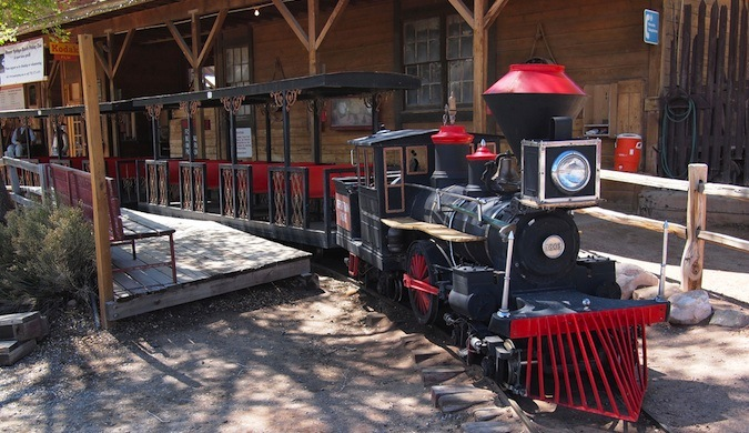 Choo choo train at the Bonnie Springs historic old west city near Las Vegas
