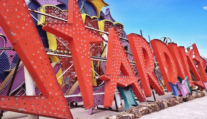 Stardust sign outside of the Neon Museum in Las Vegas