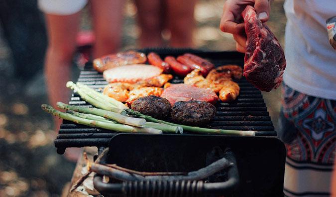 a typical Australian BBQ