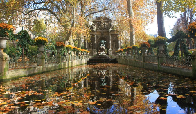 The Medici Fountain at the Jardin du Luxembourg on a nice day