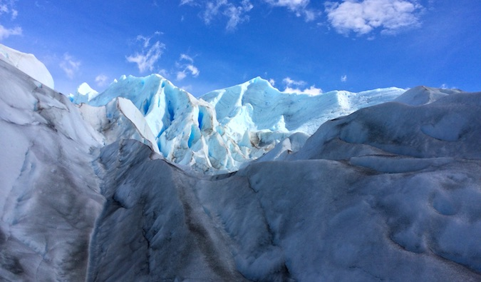 Walking across Perito Moreno Glacier was like being on another planet.