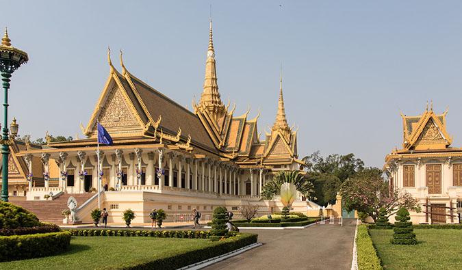 A traditional temple building in Phnom Penh, Cambodia