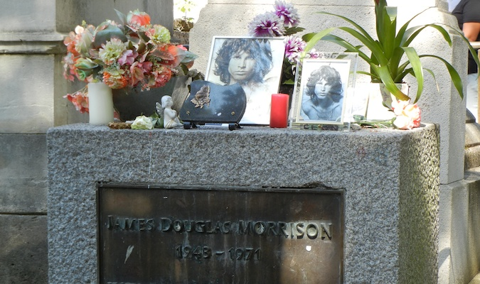 James Morrison's tombstone in cemetery in France