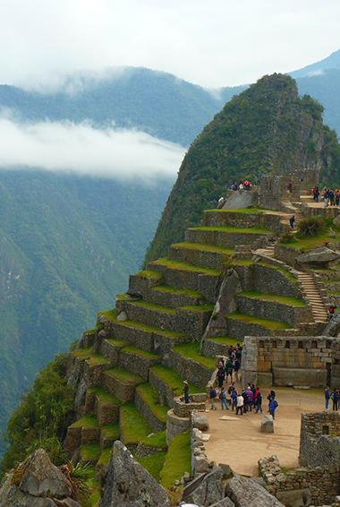 The ruins around Machu Picchu, Peru