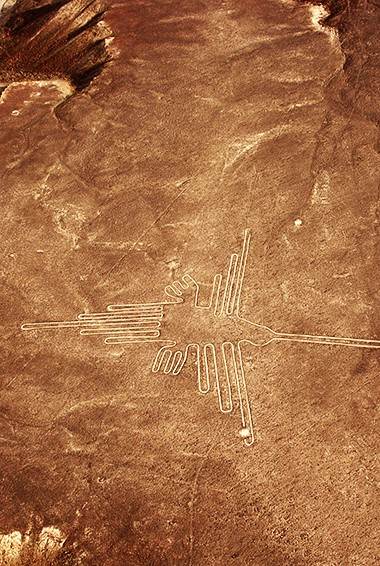outline of the Nasca Lines in Peru