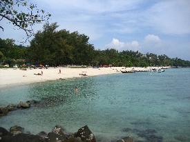 Phi Phi's best beach during high season