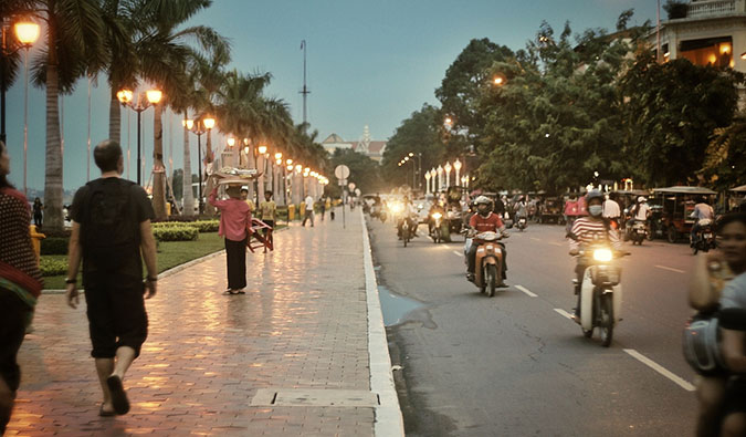 The busy and bustling streets of Phnom Penh, Cambodia