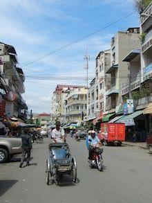 The streets of Phnom Penh, Cambodia