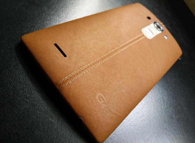 LG G4 smartphone stitched back