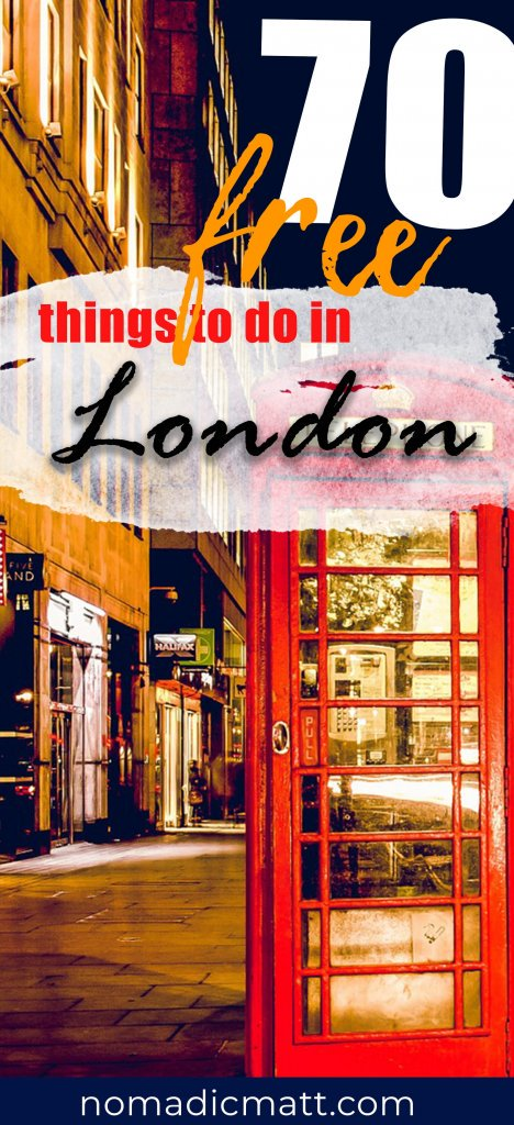70 free things to do London with red london phone booth
