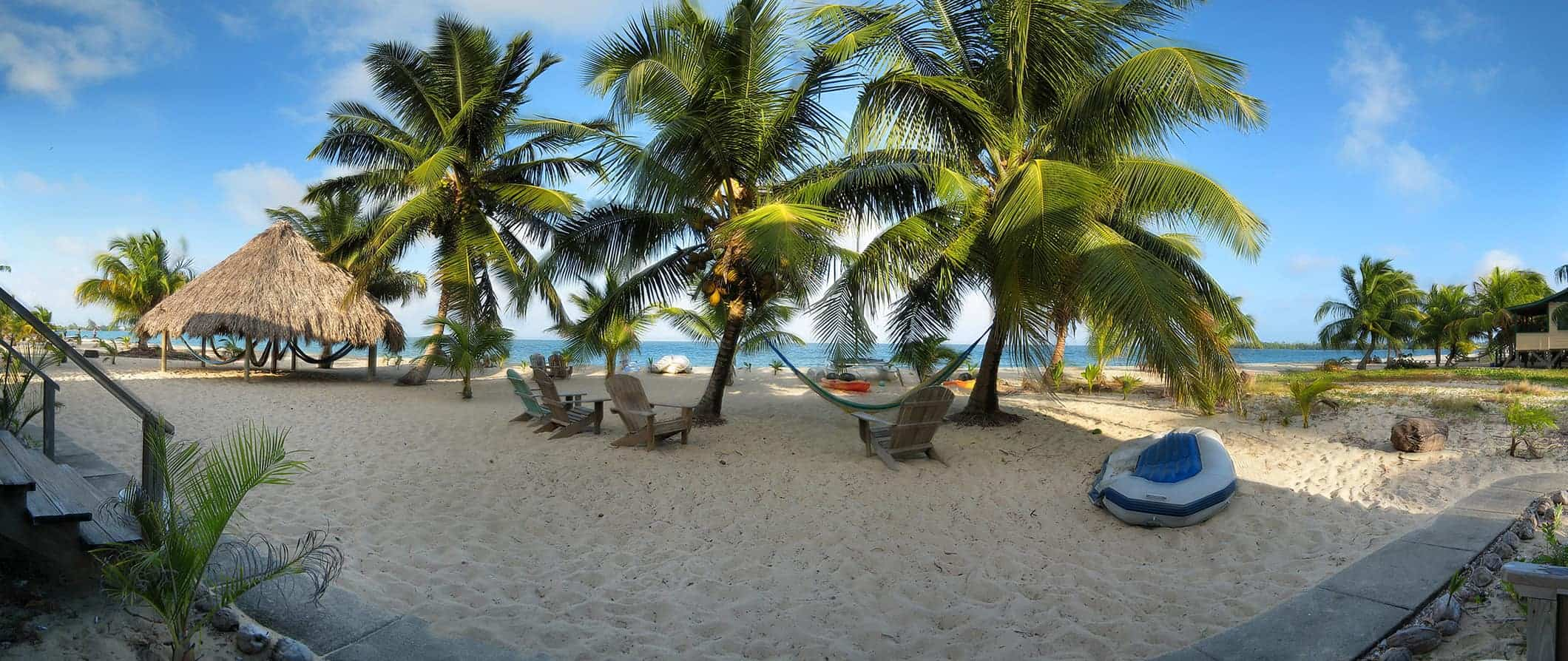 a beach scene in Placencia, Belize