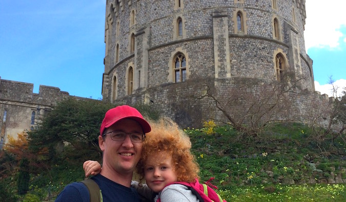 Keith being a tourist with his daughter at Windsor Castle