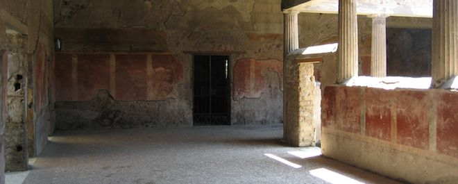 The interior of the Villa of the Mysteries at Pompeii