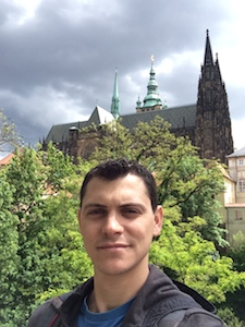 selfie of nomadic matt in Prague in the summer