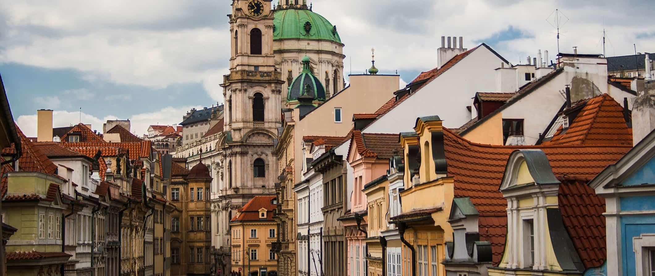 colorful buildings in Prague, Czech Republic