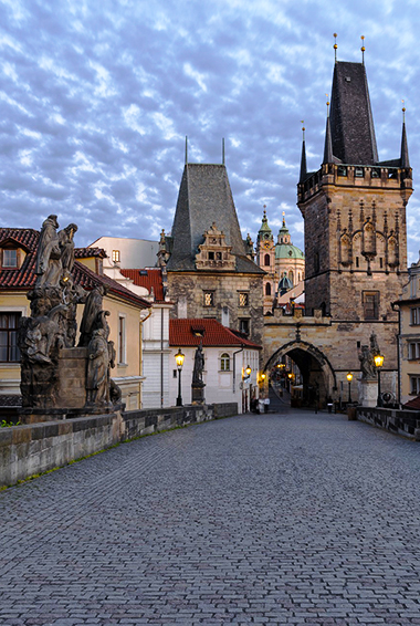 The historic Charles Bridge in Prague, Czechia