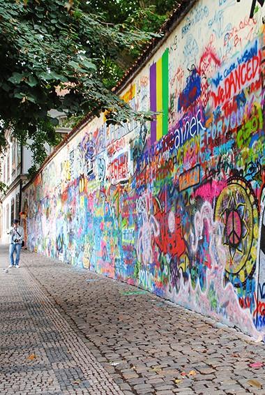 Street art in prague, Czechia